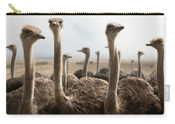 Ostrich Heads Carry-all Pouch