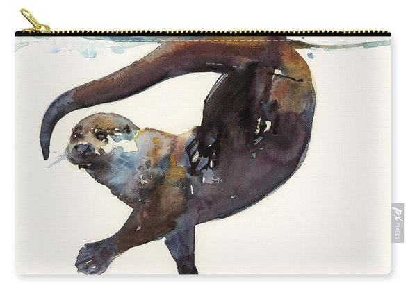 Otter Study II  Carry-all Pouch