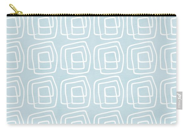Out Of The Box Blue And White Pattern Carry-all Pouch