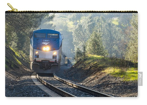 Carry-all Pouch featuring the photograph Out Of The Mist by Jim Thompson