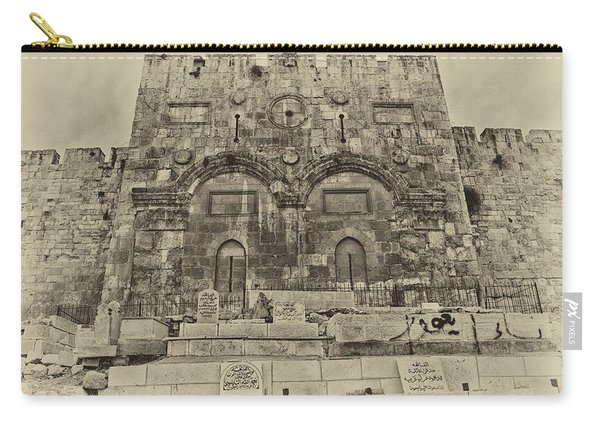 Outside The Eastern Gate Old City Jerusalem Carry-all Pouch