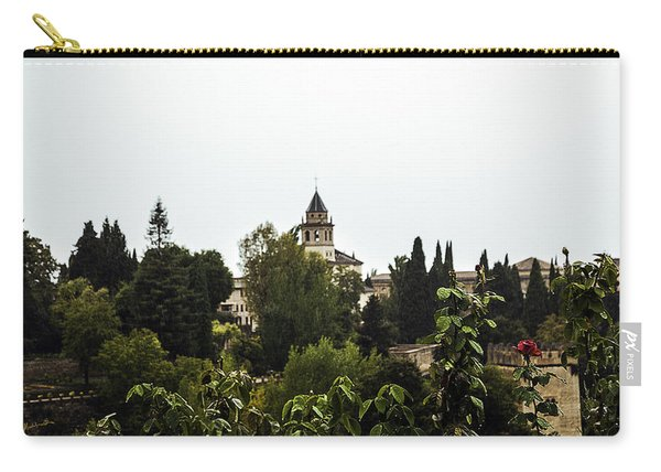 Overlooking The Alhambra On A Rainy Day - Granada - Spain Carry-all Pouch