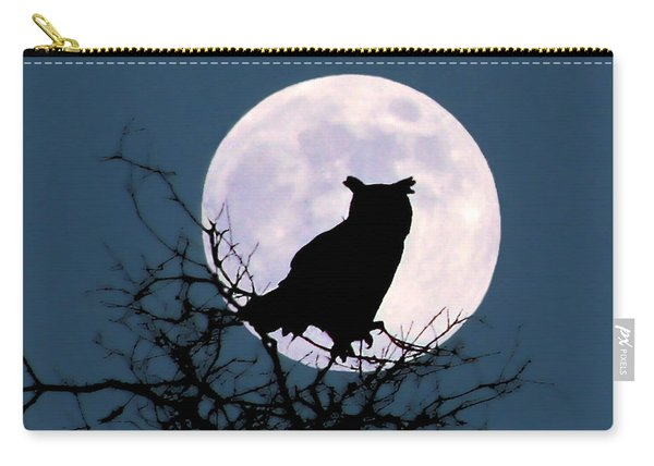 Owl And Blue Moon Carry-all Pouch