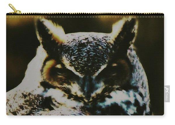 Owl Portrait Carry-all Pouch
