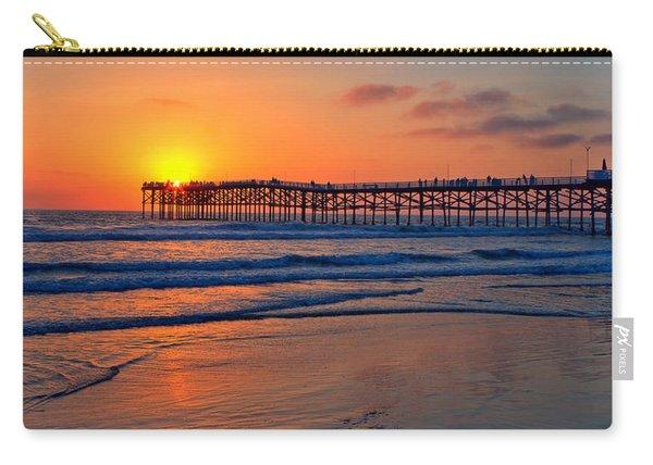 Pacific Beach Pier - Ex Lrg - Widescreen Carry-all Pouch