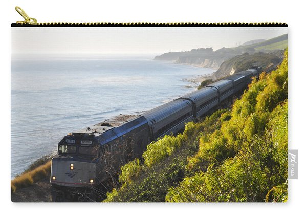 Pacific Surfliner Along The Central Coast Carry-all Pouch