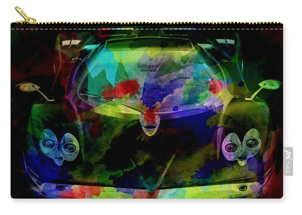 Pagani Zonda Colorful Abstract On Black Carry-all Pouch