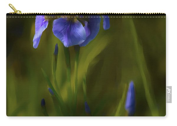 Painted Alaskan Wild Irises Carry-all Pouch