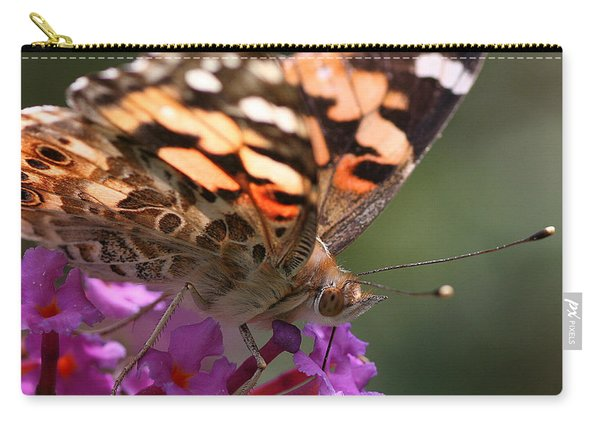 Painted Lady On Butterfly Bush Carry-all Pouch