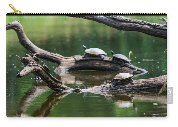 Painted Turtles  Chrysemys Picta Carry-all Pouch