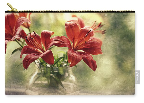 Painting Daylilies On My Window Carry-all Pouch