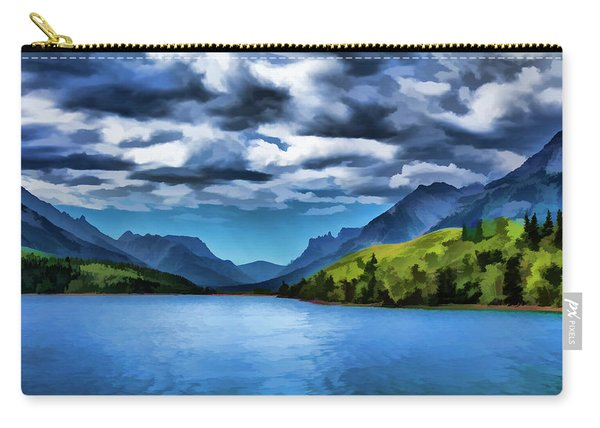 Painting Of A Lake And Mountains Carry-all Pouch