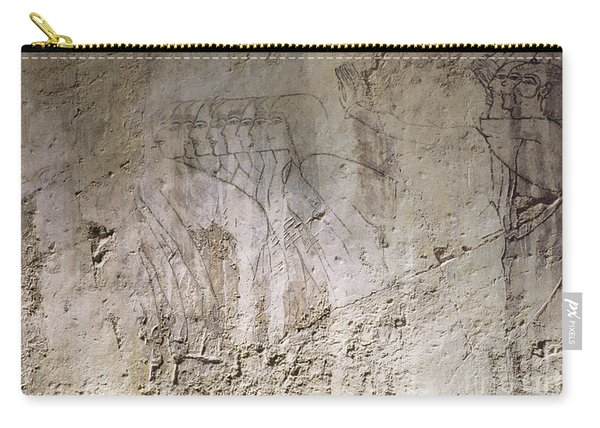 Painting West Wall Tomb Of Ramose T55 - Stock Image - Fine Art Print - Ancient Egypt Carry-all Pouch