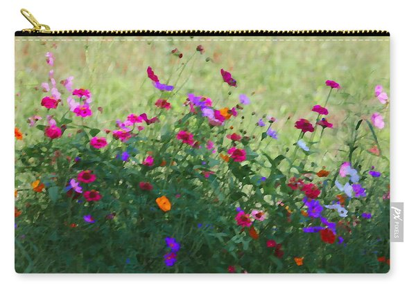 Painty Roadside Flowers Carry-all Pouch