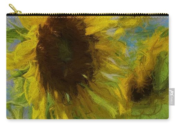 Painty Sunflower Carry-all Pouch