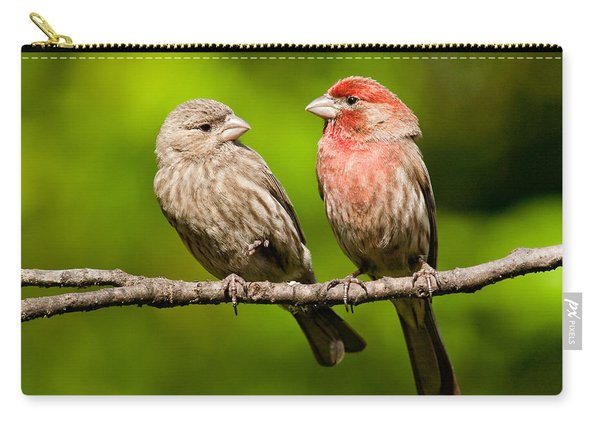 Pair Of House Finches In A Tree Carry-all Pouch