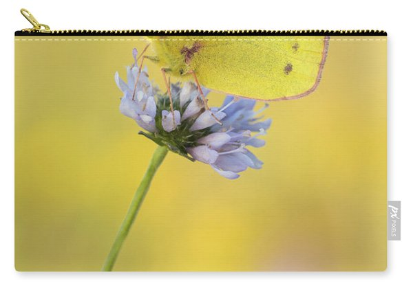 Pale Clouded Yellow Butterfly On Flower Carry-all Pouch