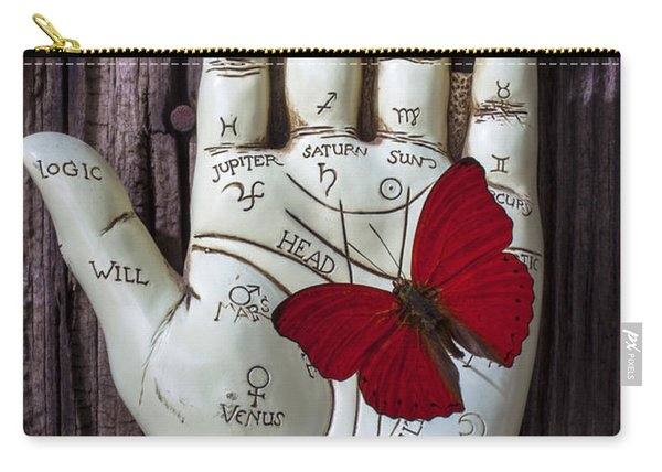 Palm Reading Hand And Butterfly Carry-all Pouch