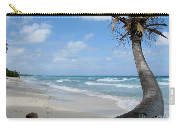 Palm Tree On The Beach Carry-all Pouch