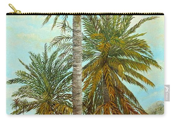 Carry-all Pouch featuring the painting Palm Trees by Angeles M Pomata