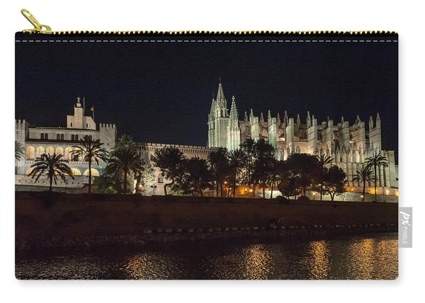 Palma Cathedral Mallorca At Night Carry-all Pouch