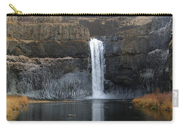 Palouse Falls In The Winter Carry-all Pouch