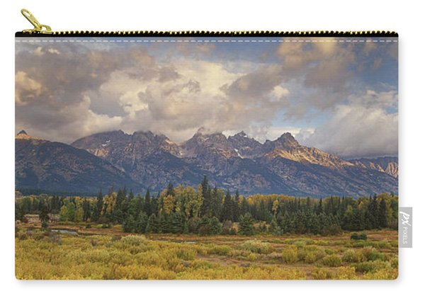 Panaroma Clearing Storm On A Fall Morning In Grand Tetons National Park Carry-all Pouch