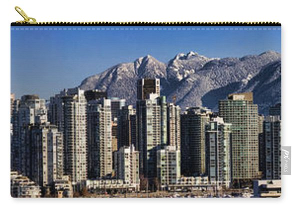 Pano Vancouver Snowy Skyline Carry-all Pouch