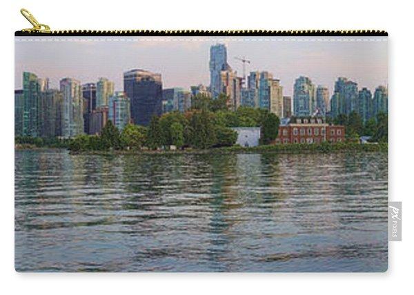Panorama Of Coal Harbour And Vancouver Skyline At Dusk Carry-all Pouch