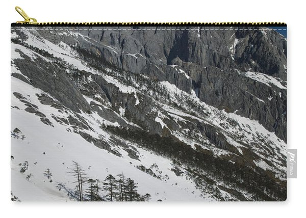 Panoramic View Of A Mountain Range Carry-all Pouch