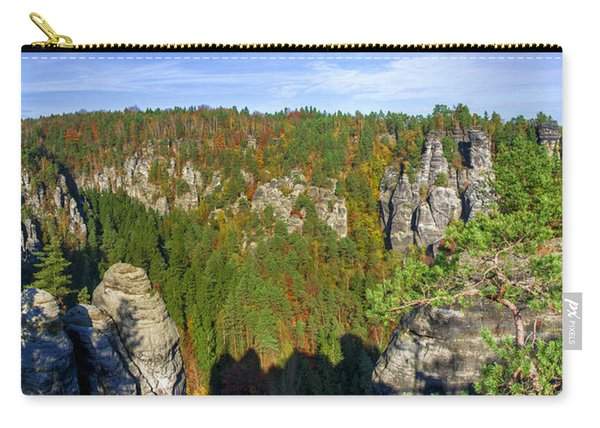 Panoramic View Of The Elbe Sandstone Mountains Carry-all Pouch