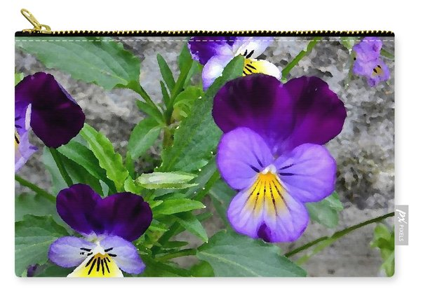 Pansies - Painterly Carry-all Pouch