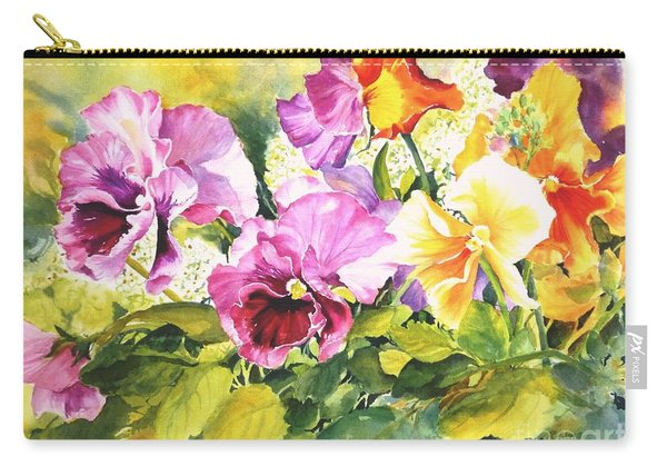Pansies Delight #3 Carry-all Pouch
