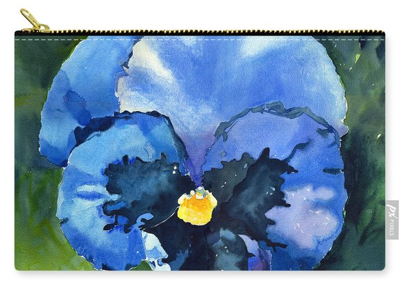 Pansy Blue Carry-all Pouch
