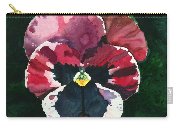 Pansy Red Carry-all Pouch