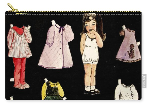 Paper Doll Amy Carry-all Pouch
