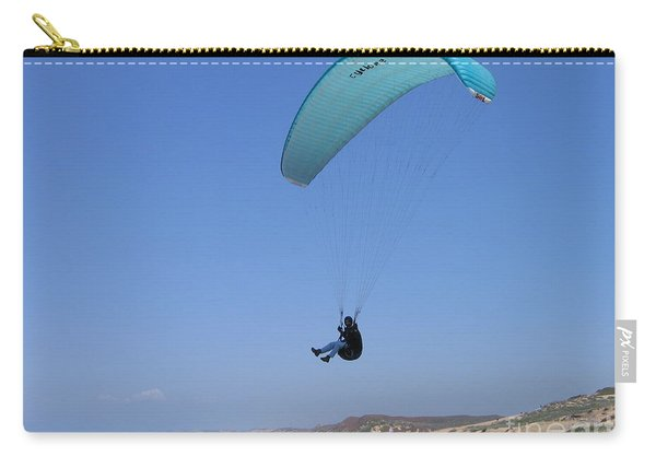 Paraglider Over Sand City Carry-all Pouch