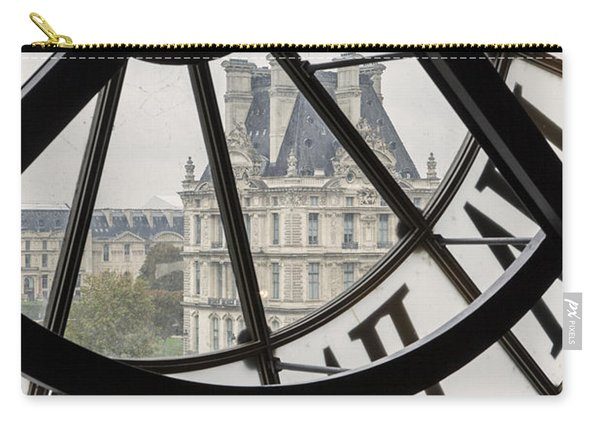 Carry-all Pouch featuring the photograph Paris Clock by Brian Jannsen