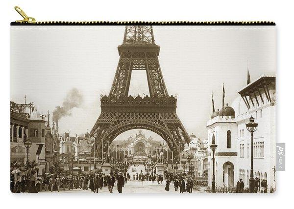 Paris Exposition Eiffel Tower Paris France 1900  Historical Photos Carry-all Pouch