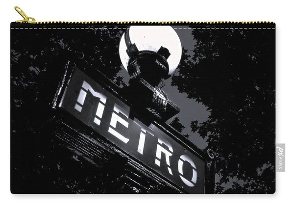 Paris Night Metro By Denise Dube Carry-all Pouch