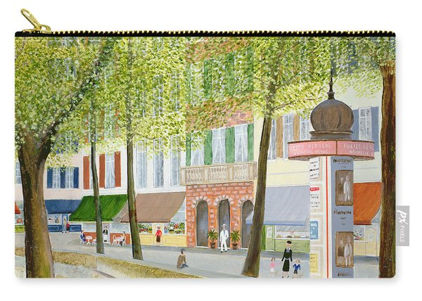 Paris Scene Carry-all Pouch