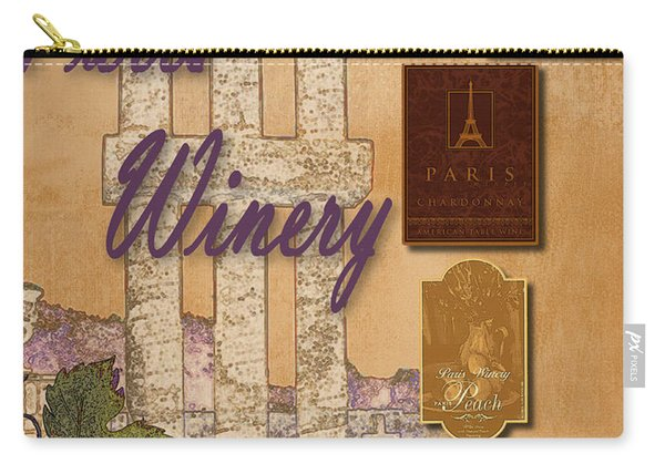 Paris Winery Labels Carry-all Pouch