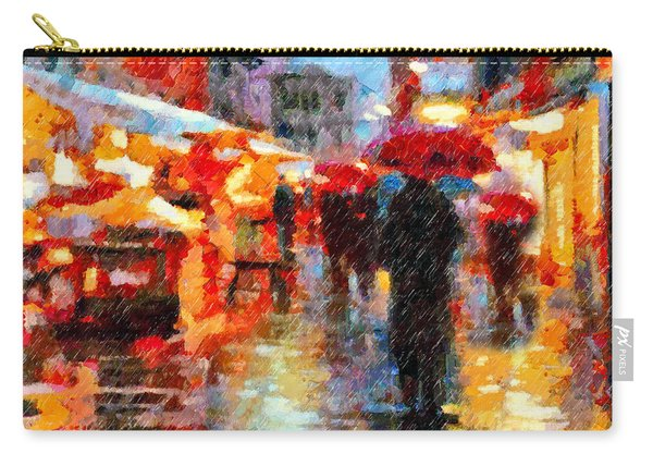 Parisian Rain Walk Abstract Realism Carry-all Pouch