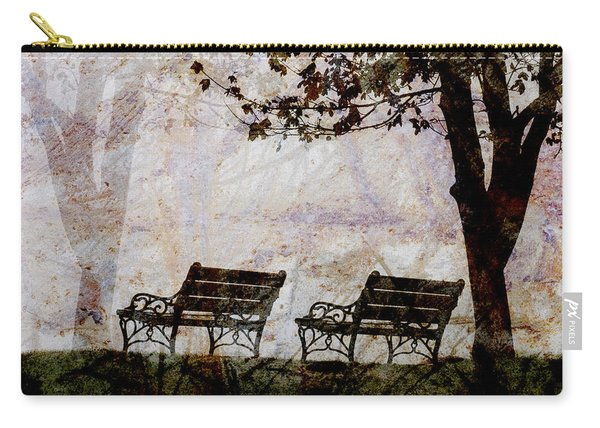 Park Benches Square Carry-all Pouch