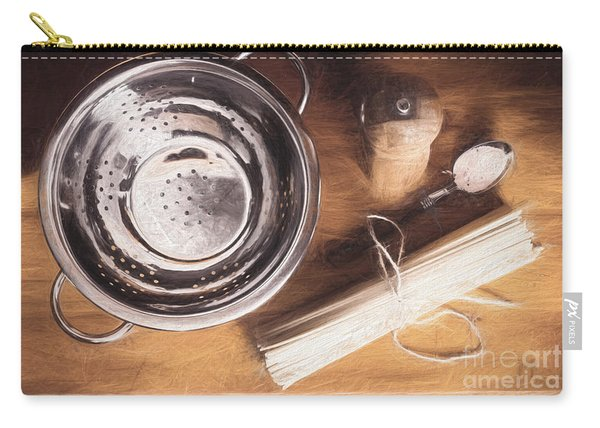 Pasta Preparation. Vintage Photo Sketch Carry-all Pouch