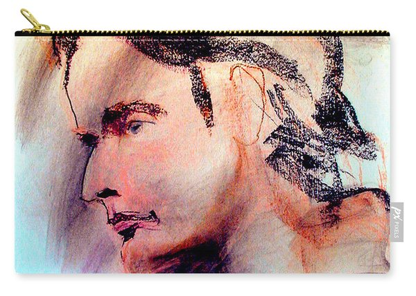 Pastel Portrait Of A Man Carry-all Pouch