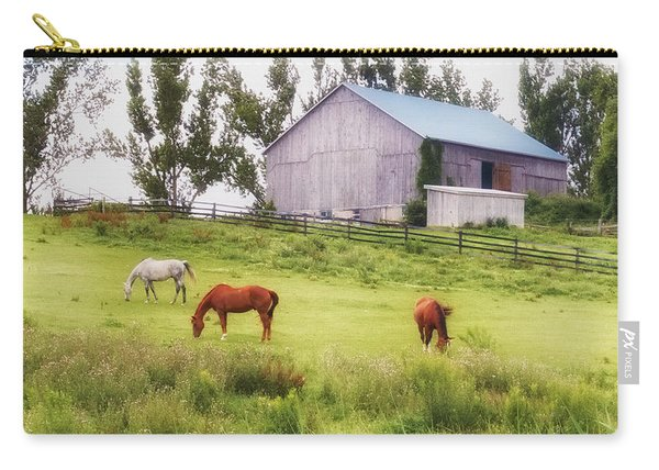 Carry-all Pouch featuring the photograph Pasture by Garvin Hunter
