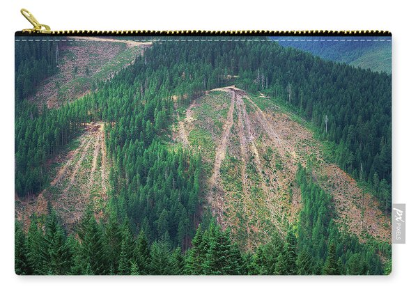 Patches Of Clearcut Mountain Carry-all Pouch