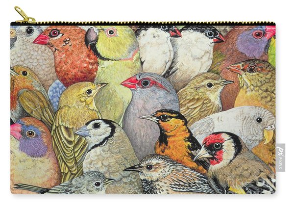 Patchwork Birds Carry-all Pouch