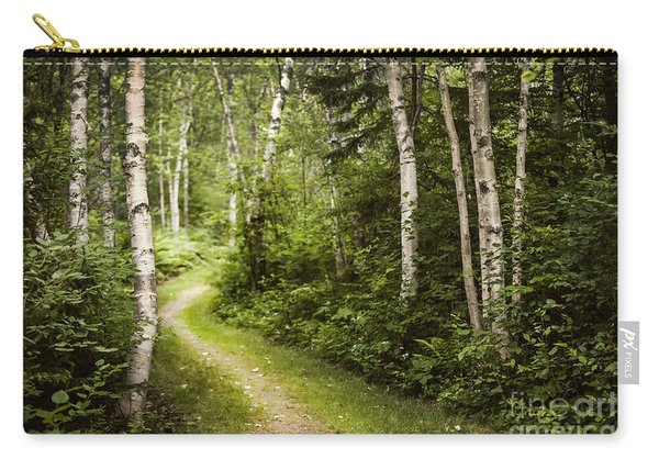 Path In Birch Forest Carry-all Pouch